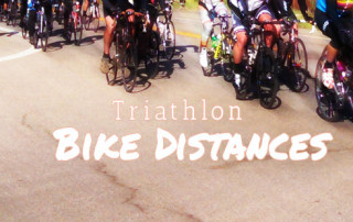 Bike distances in common triathlon races