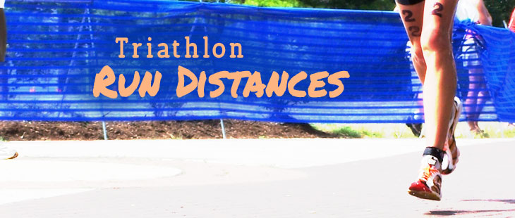 Run distances for common triathlon races