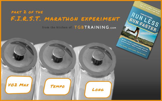 FIRST marathon experiment Part 2