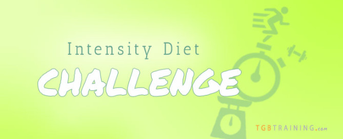 Intensity diet challenge - Recover fully